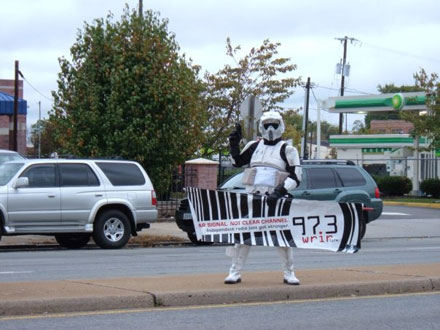Storm Trooper with WRIR Banner