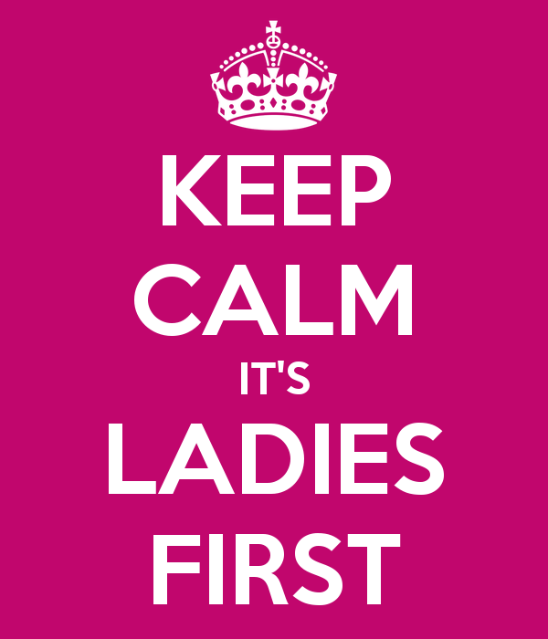 Image result for Ladies First
