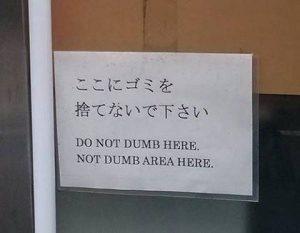 do not dumb here