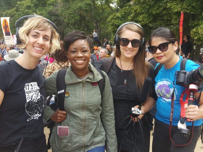 WRIR Volunteers Cover Rally In DC