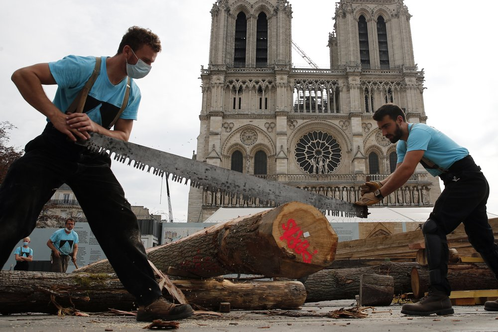 Carpenters at Notre Dame Cathedral